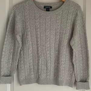 Lands' End Scoop Neck Cable Stitch Sweater